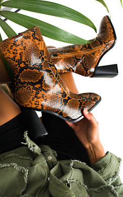View the Trinny Block Heel Ankle Boots online at iKrush
