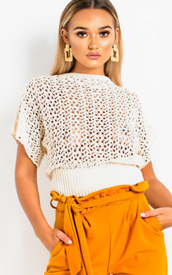 View the Trish Batwing Knitted Top online at iKrush