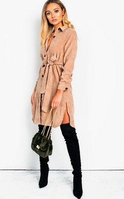 View the Trixie Cord Shirt Midi Dress online at iKrush
