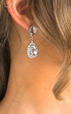 View the Trudy Diamante Drop Earrings  online at iKrush