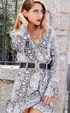 View the Tyla Printed Smock Dress online at iKrush