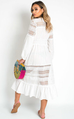 View the Ula Crochet Lace Maxi Dress  online at iKrush