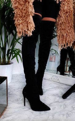View the Valentina Stretch Thigh High Embellished Boots  online at iKrush