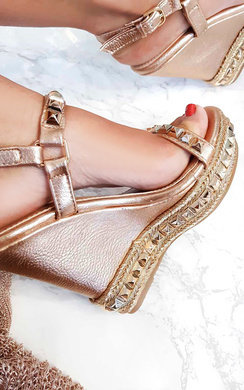 View the Valentine Studded Strap Wedges online at iKrush