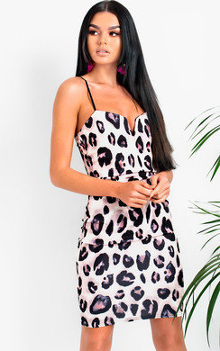 View the VeeVee Leopard Print Boydcon Midi Dress online at iKrush