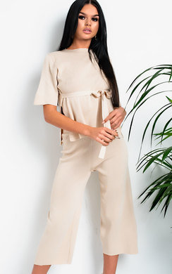 View the Vera Culotte Tie Front Co-ord online at iKrush