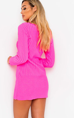 View the Vera Ribbed Knitted Jumper Dress online at iKrush