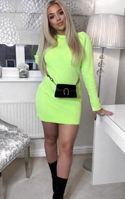 8b931a84be9 View the Vera Ribbed Knitted Jumper Dress online at iKrush