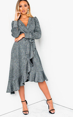 View the Vera Shimmer Wrap Dress  online at iKrush