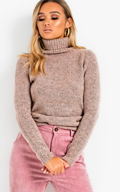 View the Vida Poloneck Knit Stretch Jumper  online at iKrush