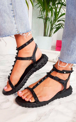 View the Vinnie Studded Chunky Sole Sandals online at iKrush