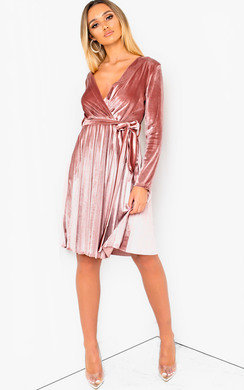 View the Virgo Velvet Tie Wrap Dress  online at iKrush