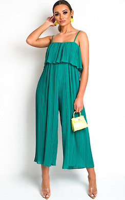 View the Viv Pleated Overlay Jumpsuit online at iKrush