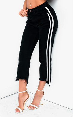View the ViVi Striped Slim Fit Cropped Jeans online at iKrush