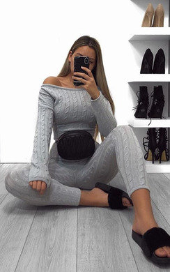View the Vivz Knitted Cable Knit Co-ord online at iKrush