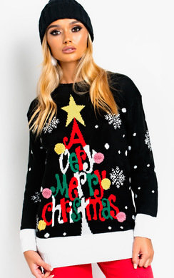 View the Vixen Oversized Slogan Christmas Jumper  online at iKrush