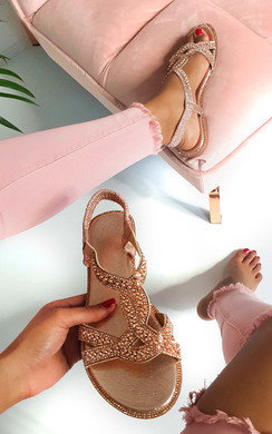 View the Willow Diamante Embellished Sandals online at iKrush