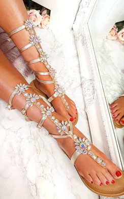 View the Willow Embellished Gladiator Sandals online at iKrush