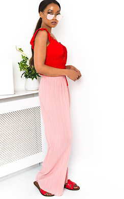 View the Willow Wide Leg Pleated Trousers  online at iKrush