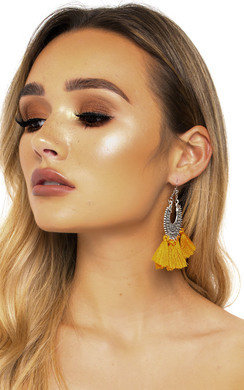 View the Wilma Hooped Tassel Earrings  online at iKrush