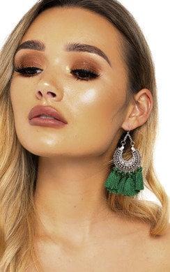 View the Wilma Hooped Tassel Earrings  online at iKrush