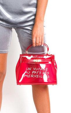 View the Xanthe Clear Slogan Handbag online at iKrush