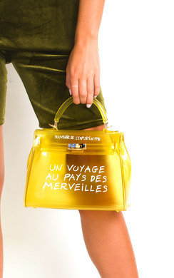 View the Xanthe Clear Slogan Handbag online at iKrush