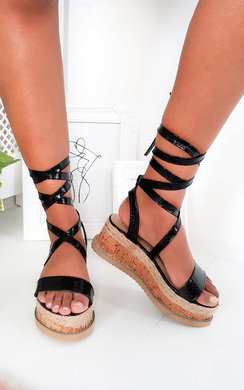 View the Yana Faux Snake Skin Flatform Sandal online at iKrush