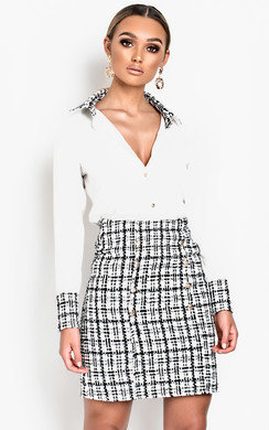 View the Yana Long-Lined Tweed Skirt  online at iKrush