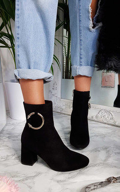 View the Yana Ring Block Heel Ankle Boots online at iKrush