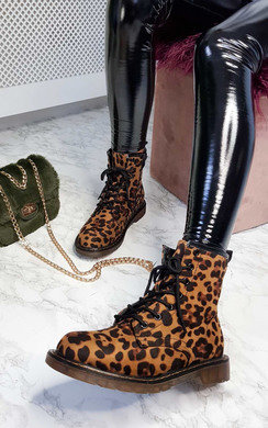 View the Yaya Leopard Desert Boots online at iKrush