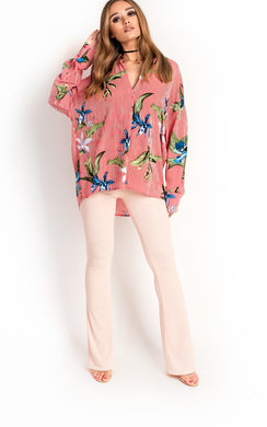 View the Yazzy Tropical Oversized Shirt  online at iKrush
