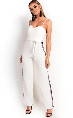View the Zara Rainbow Stripe Wide Leg Jumpsuit online at iKrush