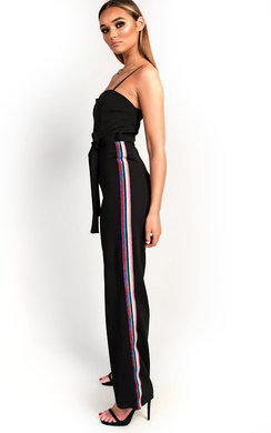 View the Zara Rainbow Stripe Wide Leg Jumpsuit online at iKrush