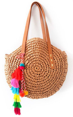 View the Zaraa Straw Circle Handbag online at iKrush