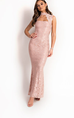 View the Zarah Lace Sweetheart Neckline Maxi Dress online at iKrush
