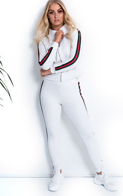 View the Zarah Stripe Zipped Tracksuit online at iKrush