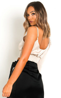 View the Zeena Satin One Shoulder Top online at iKrush