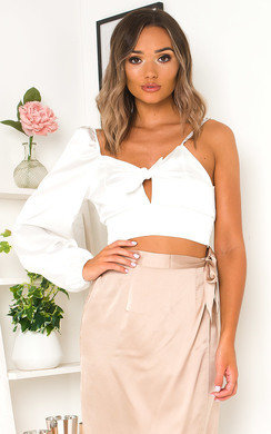 View the Zeena Satin One Shoulder Top online at iKrush