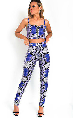 View the Zendaya Snake Print Co-ord online at iKrush