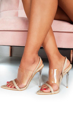 View the Zoe Barely There Perspex Strappy Heels online at iKrush
