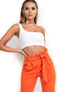 View the Kaylee One Shoulder Crop Top online at iKrush