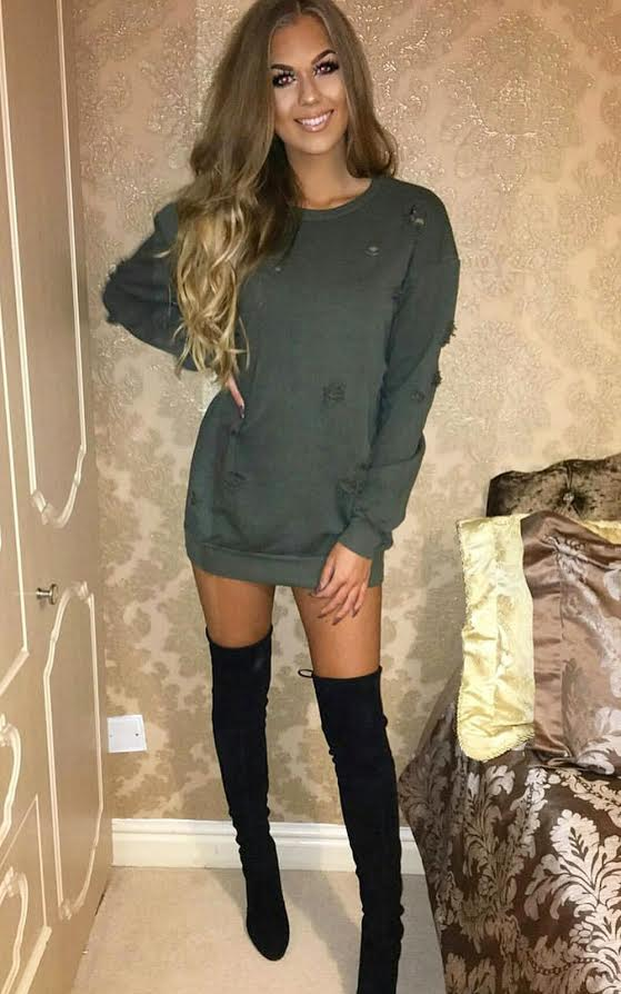 reliable reputation nice shoes purchase newest Bloom Oversized Ripped Jumper Dress
