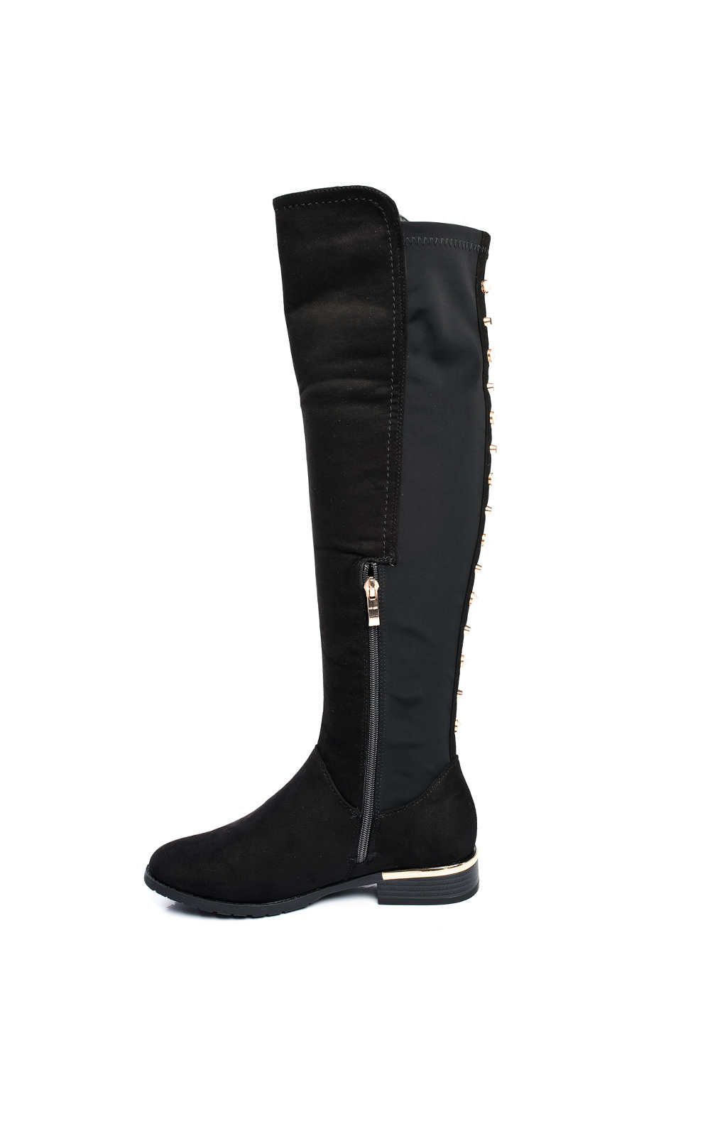 332a670d Cleo Faux Suede Studded Knee High Boots