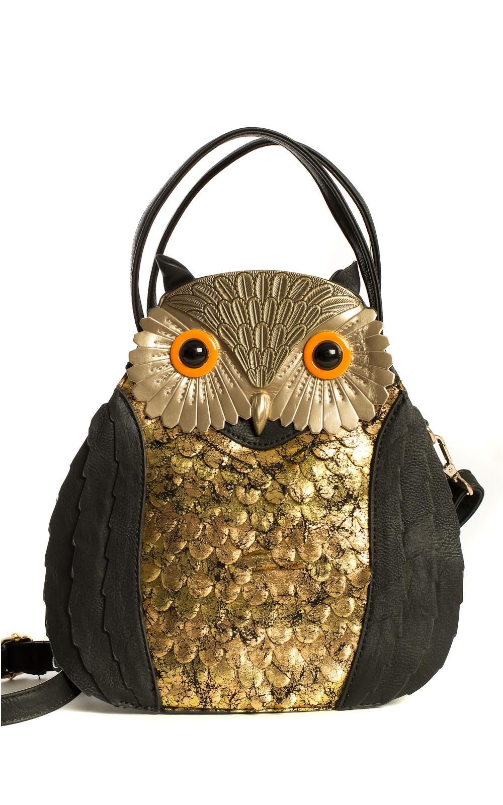 Petra Owl Handbag In Black Ikrush