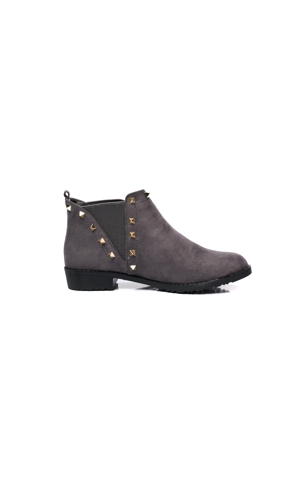 Keir Studded Chelsea Faux Suede Ankle