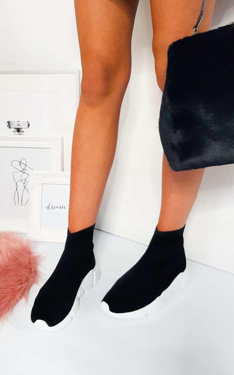 Ailish Runner Sock Trainer in Black