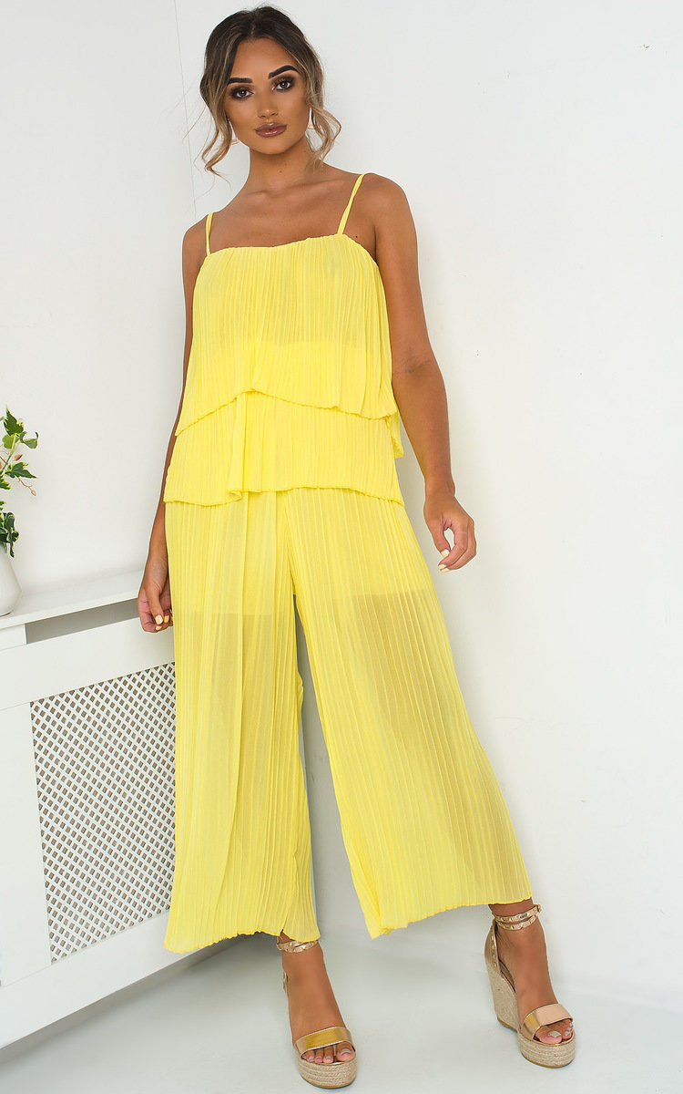 buying new well known most reliable Cardi Pleated Overlay Jumpsuit