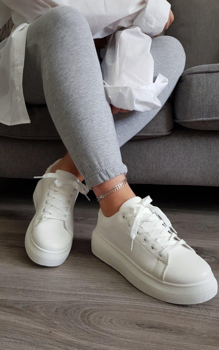 Ciara Chunky Trainers in White | ikrush