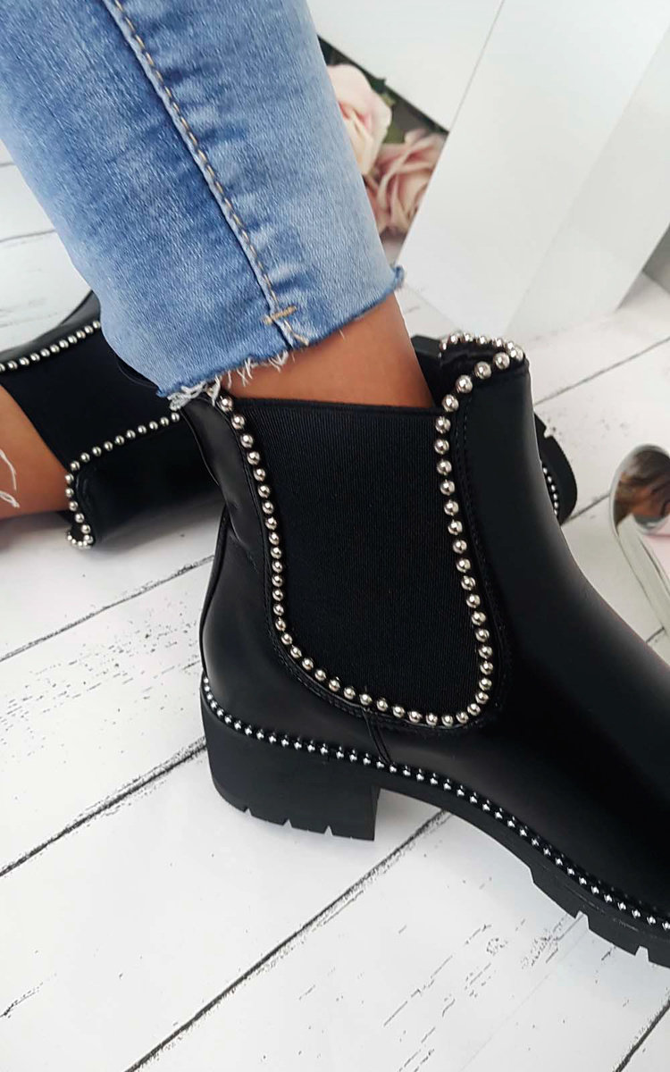 Dani Studded Chelsea Ankle Boots in